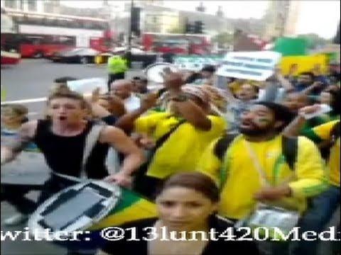 Brazil Protests in London UK