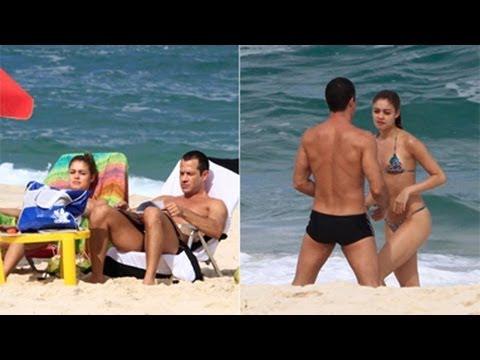 Sophie Charlotte e Malvino Salvador curtem o Dia dos Namorados na praia