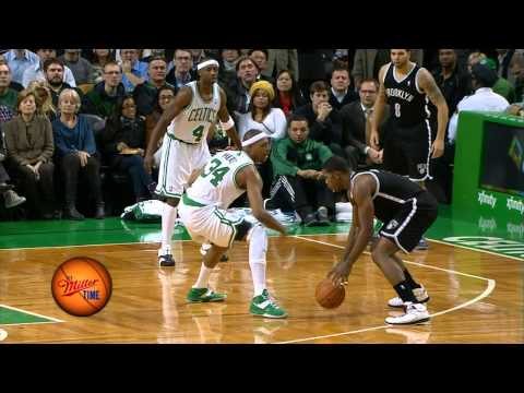 Joe Johnson Trips Up Paul Pierce with his Handles