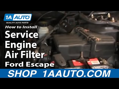How To Install Replace Service Engine Air Filter Ford Escape Mercury Mariner