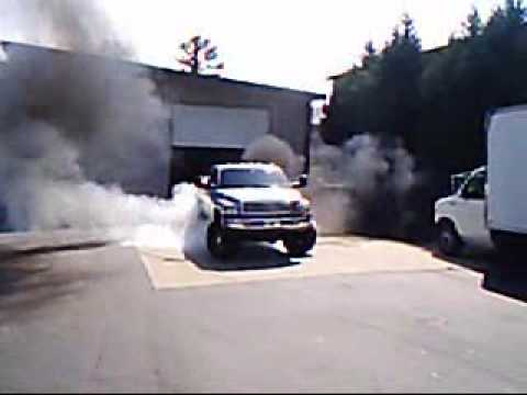 Dodge Cummins burnout Video