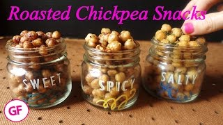 Roasted Chickpeas Snacks (Sweet, Spicy, and Savory)
