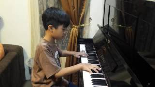 X-Files/Illuminati Theme Song on Piano Arranged by a 10-year Old Boy