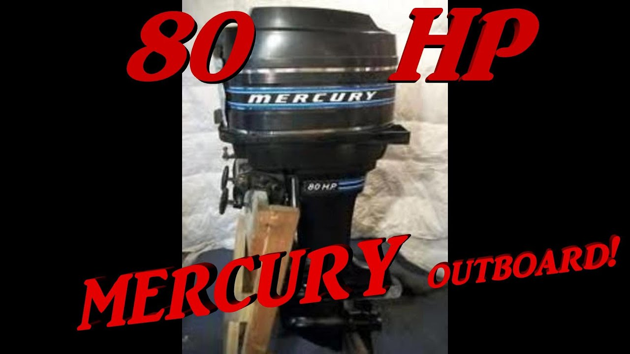 Cold Start 1978 Outboard Engine  Mercury 80 Hp Two