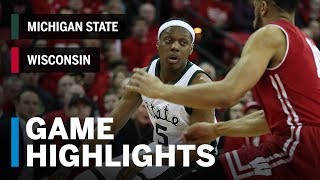 Highlights: Michigan State at Wisconsin | Big Ten Basketball