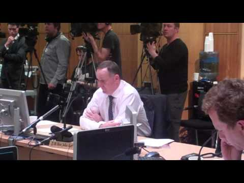 Kim Dotcom vs PM John Key - GCSB Bill Select Committee Hearing 3 July 2013 (2nd Camera)