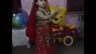 Cute baby girl dancing on Indian movie song