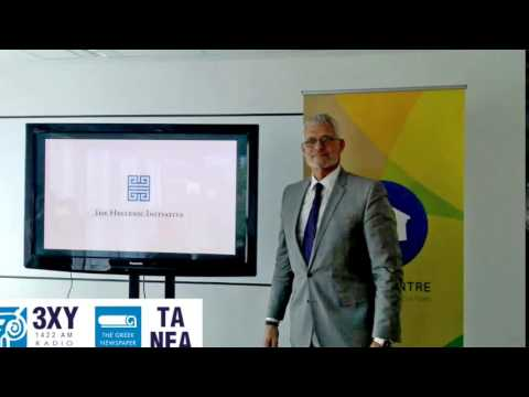 3XY's  interview with the Executive Director of The Hellenic Initiative, Mr Mark Arey.