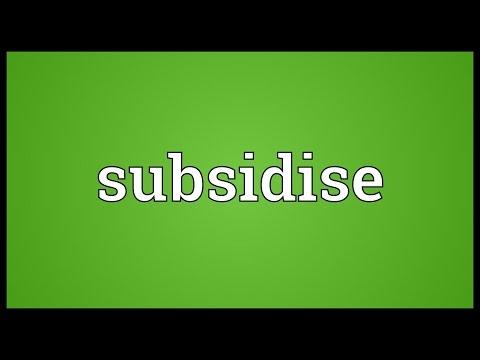 Header of Subsidise