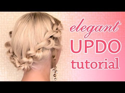 Elegant updo hairstyle for Christmas and New Year's eve
