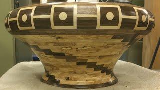 Segmented Maple and Walnut Bowl | Segment Skål #23 | Woodturning