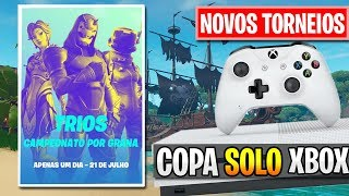 CONFIRMADO! TRIOS CASH UP E TORNEIO DO XBOX