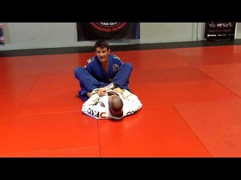 Jiu Jitsu Techniques - Pass the butterfly guard and clock choke