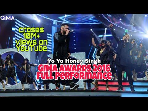 Yo Yo Honey Singh Gima Awards 2016 | Full Performance | Raat Jashan Di | BrownRang |Dheere Dheere Se