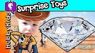 DIAMOND Dig It Surprise Toys! Gold Hunt by Toy Story Woody + Gems HobbyKidsTV
