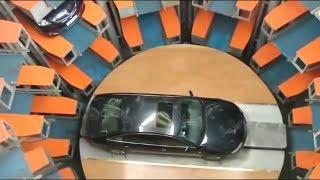 Underground car park in Japan