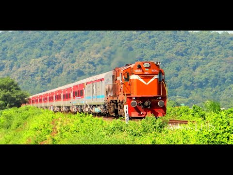 INDIA's Longest Running Train goes LHB : 15906 Dibrugarh - Kanniyakumari VIVEK EXPRESS | Andal WDG3A