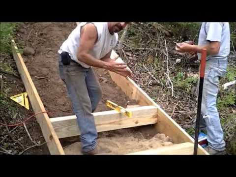 Installing outdoor stairs on a lake front home youtube for What are the steps to building a house
