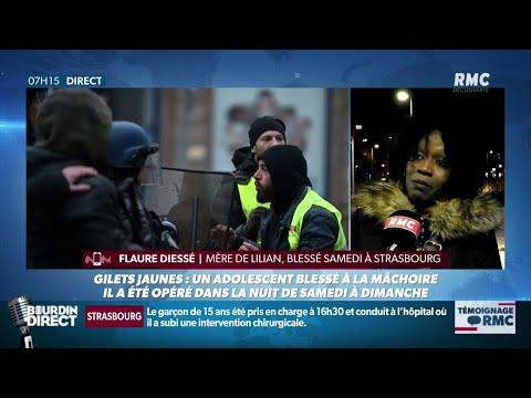 Lilian, 15 ans, a été blessé par un tir de flash-ball à Strasbourg: la colère de sa mère sur RMC