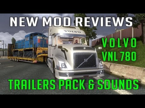 Volvo VNL 780 + Trailers pack in TSM Map 4 x Mod (ETS 2 Mods)