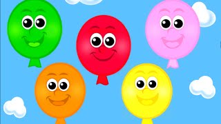 The Balloon Song - Learn 10 Color Song for Children, Toddlers and Babies