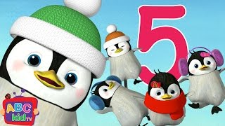 Five Little Penguins Jumping on the Bed   Cocomelon (ABCkidTV) Nursery Rhymes & Kids Songs
