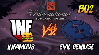 Infamous Gaming vs Evil Geniuses ► The International Dota 2 2019 ( TI9 Day 3 ) 😎 | dota 2