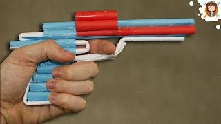 How to Make a Paper Revolver that Shoots - Pistol With Trigger