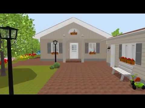 150901 Bungalow 4 Giebel Mit Garten -- Erstellt Mit Sweet Home 3D
