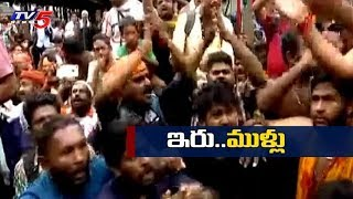 3వ రోజు కొనసాగుతున్న ఆందోళనలు | Kerala Ayyappa Swamy Temple Protests Updates