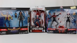 Marvel Legends Spider-Man: Homecoming/PS4/SpiderVerse Sets Review