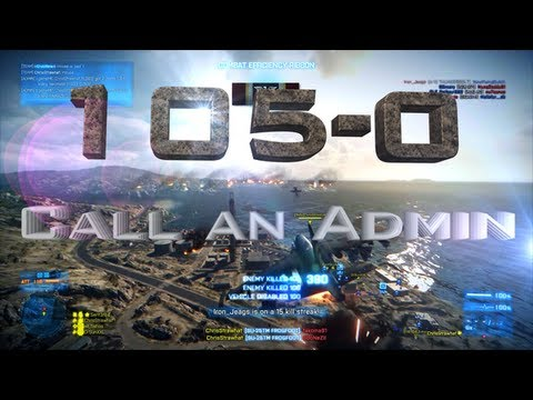 BF3 - Call an Admin! PERFECT GAME: 105-0