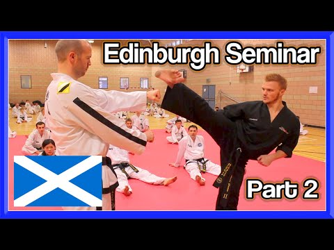 Edinburgh Taekwondo Seminar Part 2 (ginger Ninja Trickster) video