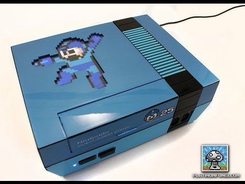 Modded NES for 25th anniversary of MegaMan. Interviewing PlatinumFungi