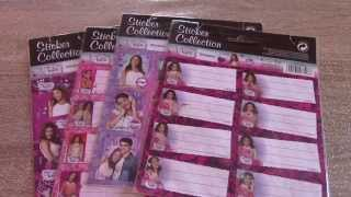 Violetta Disney Stickers Collection + School Tag Stickers