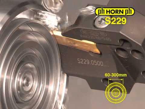 Проточка торцевых канавок инструментом системы Horn 312