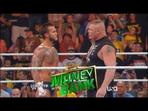 WWE Money In The Bank 2013 Cm Punk vs Brock Lesnar Full Match card prediction
