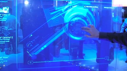 CES 2009: Intel Touch-screen Display
