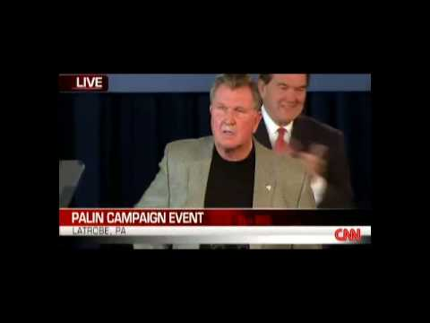 Mike Ditka introduces Gov. Sarah Palin at Rally Video