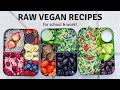 RAW VEGAN MEAL PREP RECIPES 🥑 healthy + easy ideas!