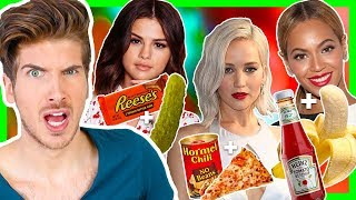 TASTING WEIRD CELEBRITY FOOD COMBINATIONS!