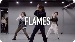 Download Lagu Flames - David Guetta & Sia / Jin Lee Choreography Gratis STAFABAND