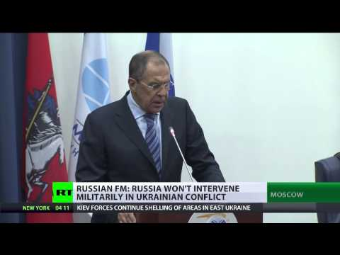 'There'll be no military intervention in Ukraine' - Lavrov