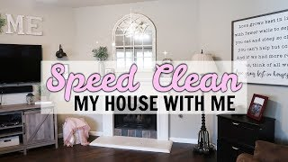 SPEED CLEANING MY HOUSE | Clean With Me 2019 | Olivia Snyder