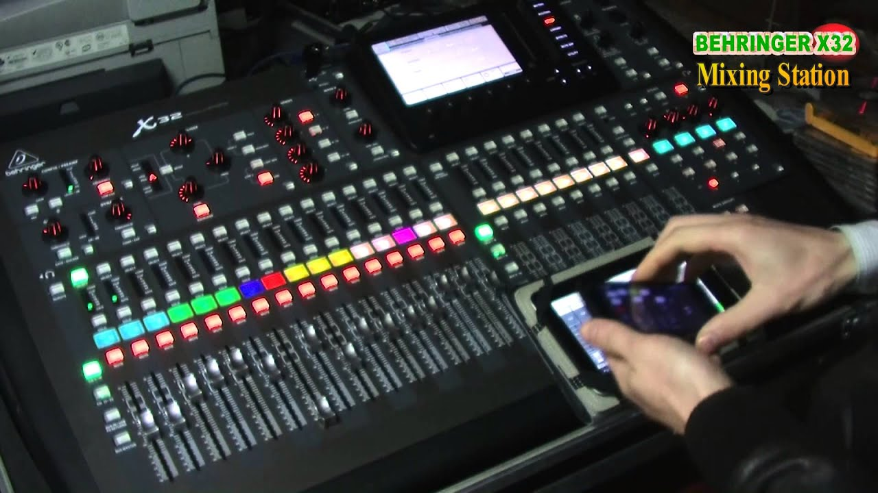 Behringer X32 Android App Mixing Station Youtube