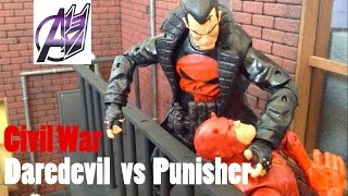 Daredevil Stop Motion-Daredevil vs the Punisher