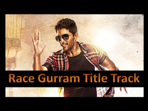 Race Gurram Title Track (Hindi Version) Allu Arjun | Shruti Hassan | Brahmanandam |