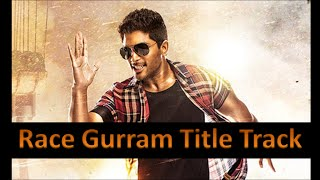 Race Gurram Title Track (Hindi Version) Allu Arjun | Shruti Hassan | Brahmanandam |
