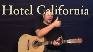 Hotel California (Eagles) Easy Strum Guitar Lesson How to Play Hotel California Tutorial