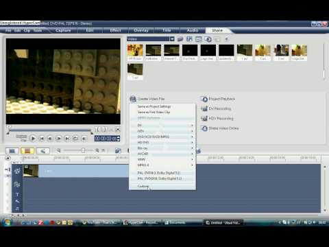 Ulead Videostudio Tutorial - Exporting in HD